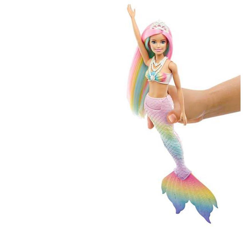 Muñeca Barbie Dreamtopia Sirena Arcoíris Mágico-B