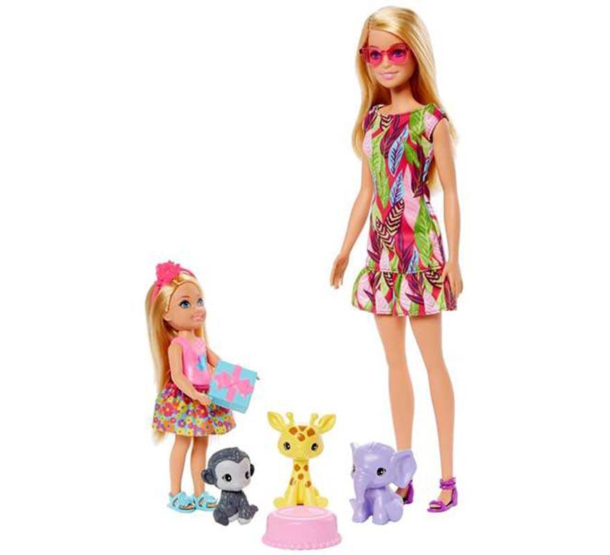 Muñeca Barbie y Chelsea El Cumpleaños Perdido con Animales-B
