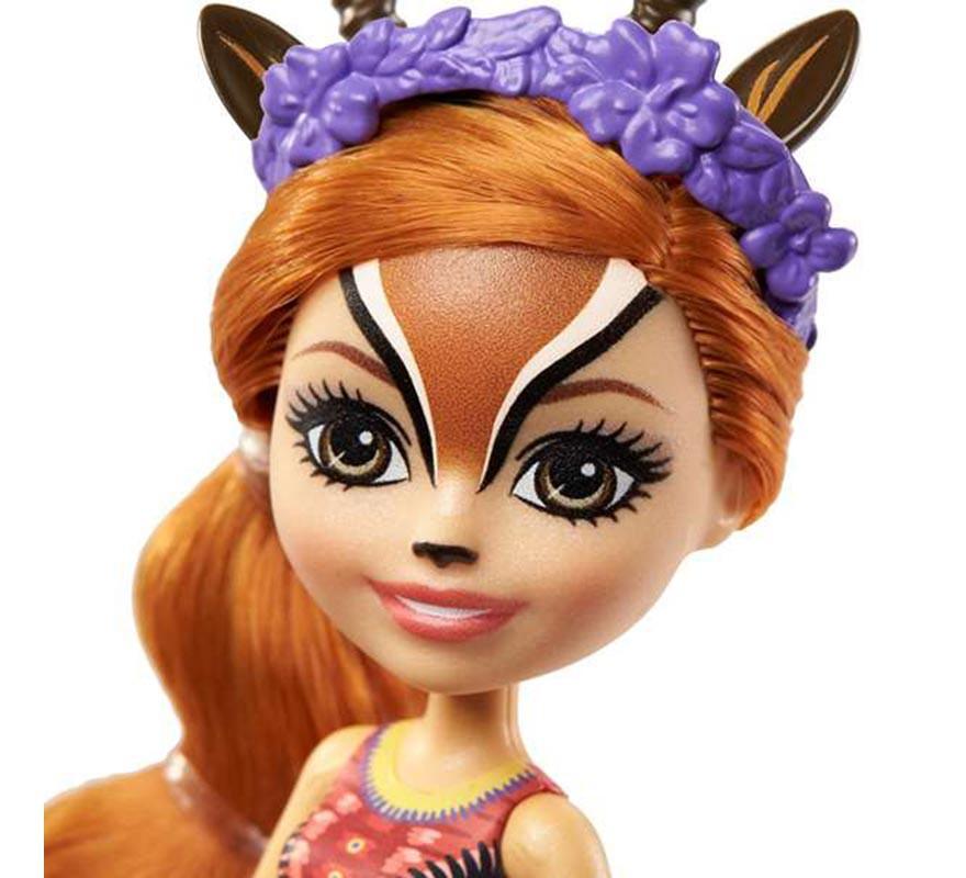 Muñeca Enchantimals Gabriela Gazella con Mascota de 15 cm-B