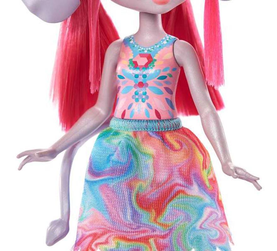 Muñeca Enchantimals Sunny Savanna Esmeralda de 15 cm-B