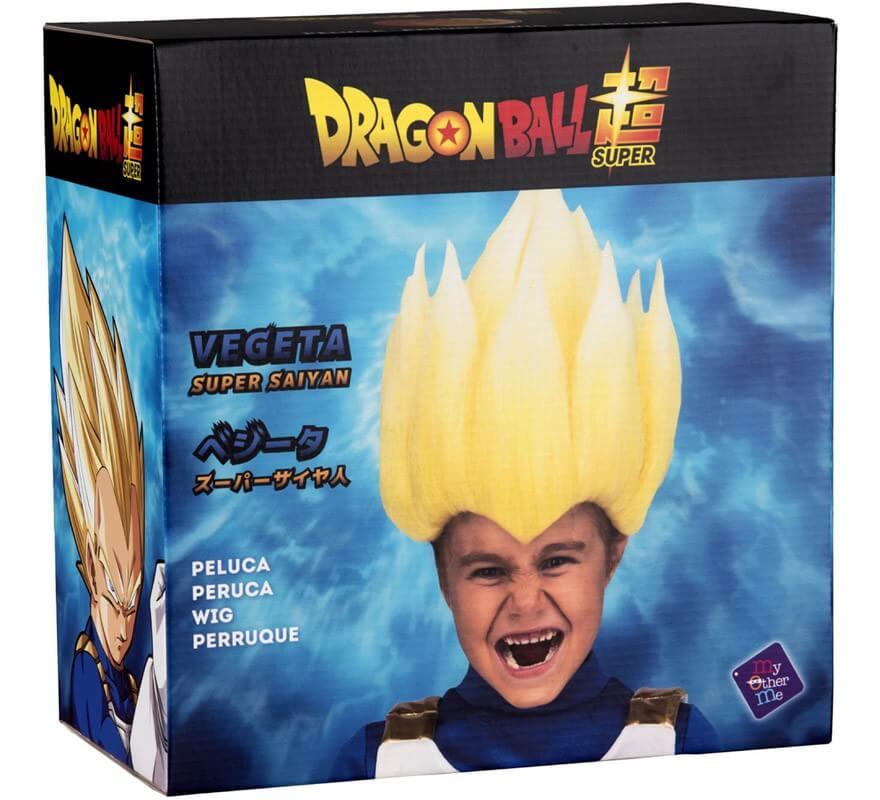 Peluca de Saiyan Vegeta de Dragón Ball en caja para niño-B