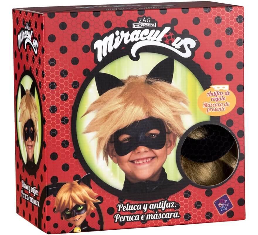 Peluca y Antifaz de Cat Noir en caja para niño-B