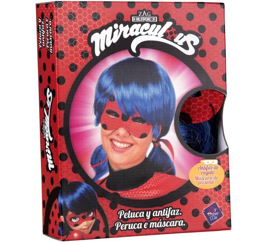 Peluca y Antifaz de Ladybug en caja para mujer-B