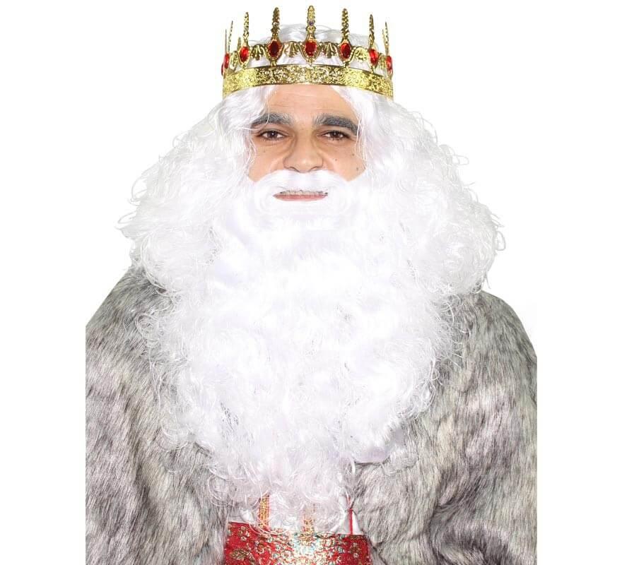 Peluca y barba de Rey Mago Melchor-B