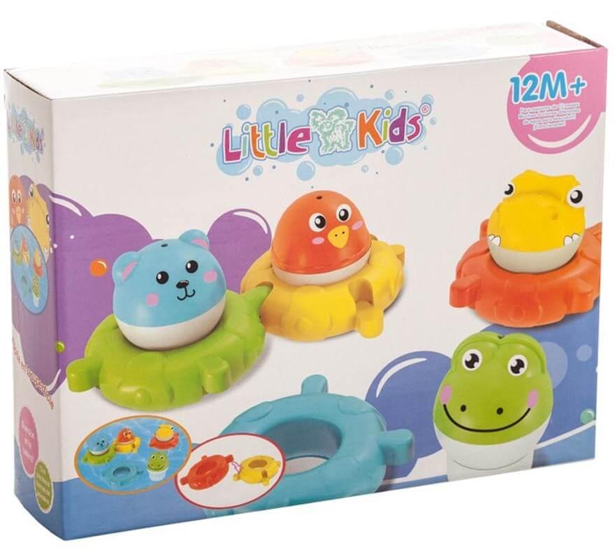 Set de 4 Dinosaurios de baño en caja-B