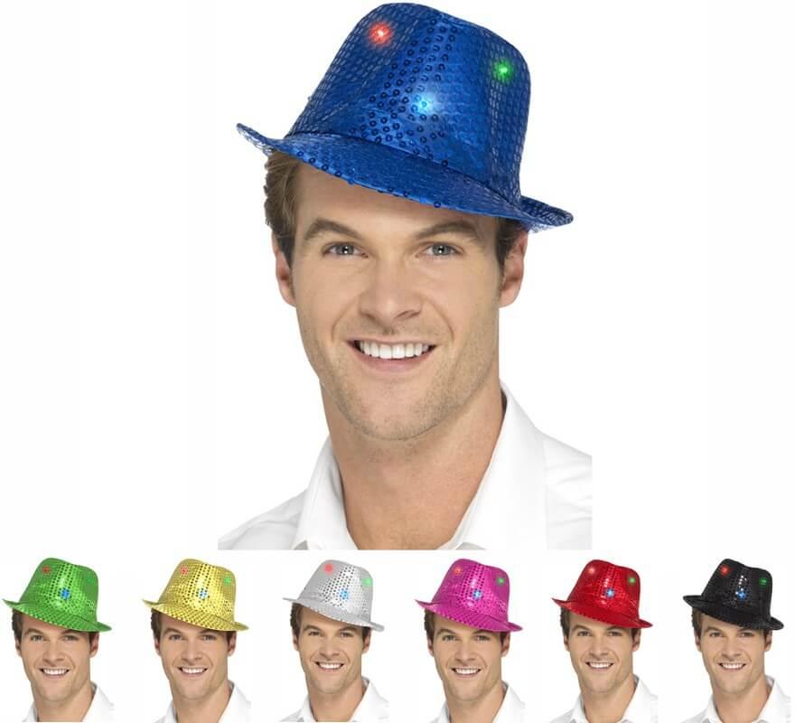 Sombrero con Lentejuelas y Luz en varios colores c741c7a5278