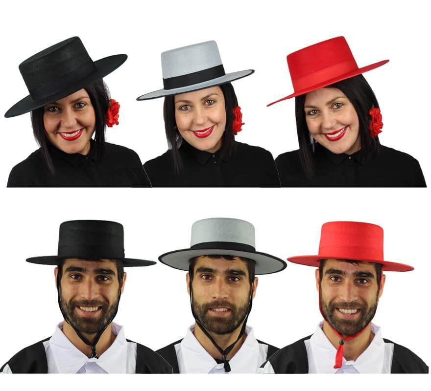 Sombrero Cordobés fieltro. Varias tallas y Colores 378396ac3dc