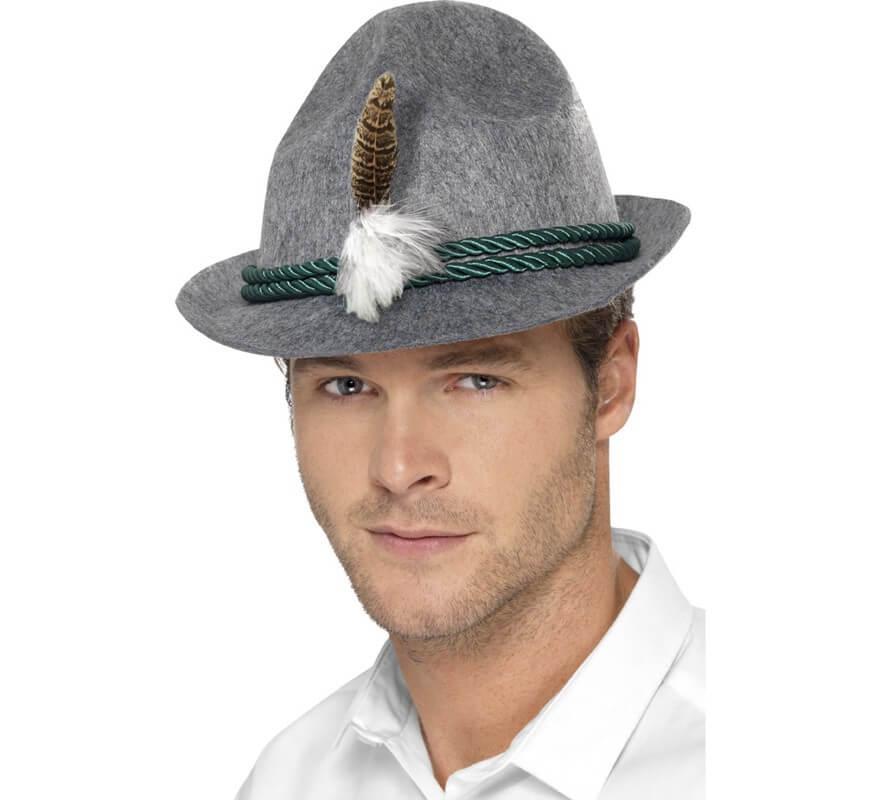 87133e0ffc086 Sombrero de Alemán con Plumas