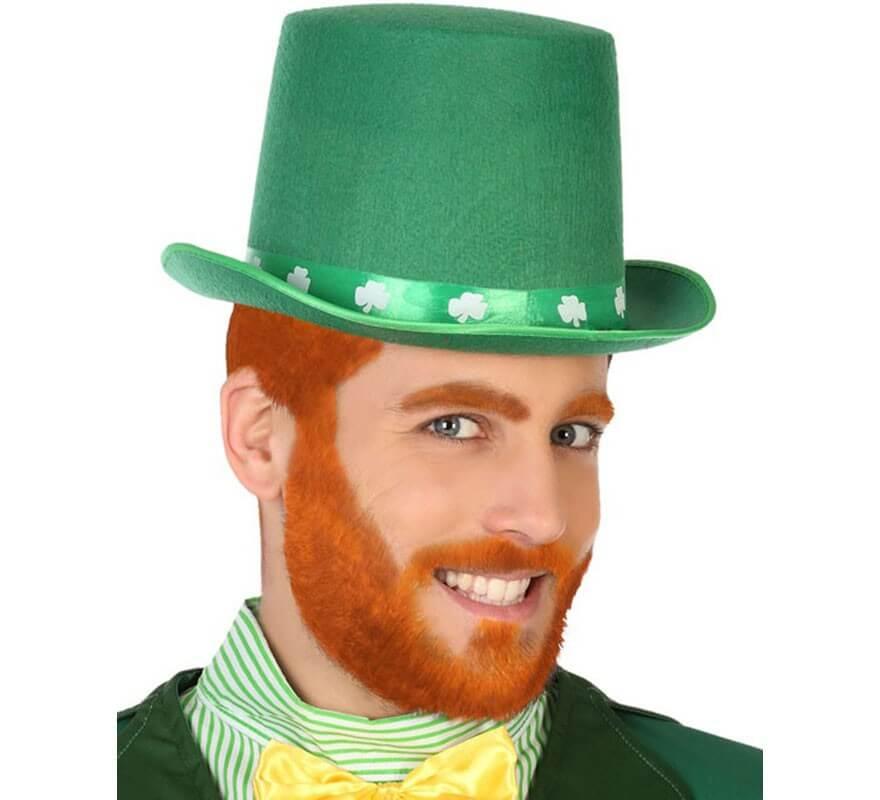 CAPPELLO SAN PATRIZIO CON BARBA  Carnevale Copricapo Accessori Irlanda 115 18400