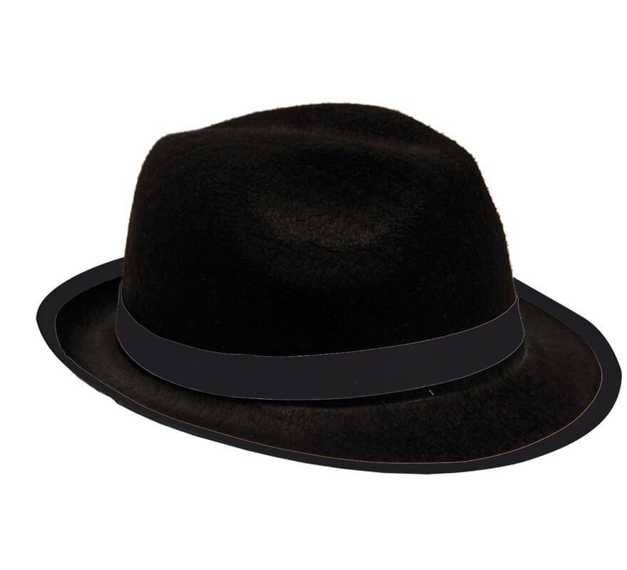 54ee86975b1a3 Sombrero de Gánster de fieltro negro