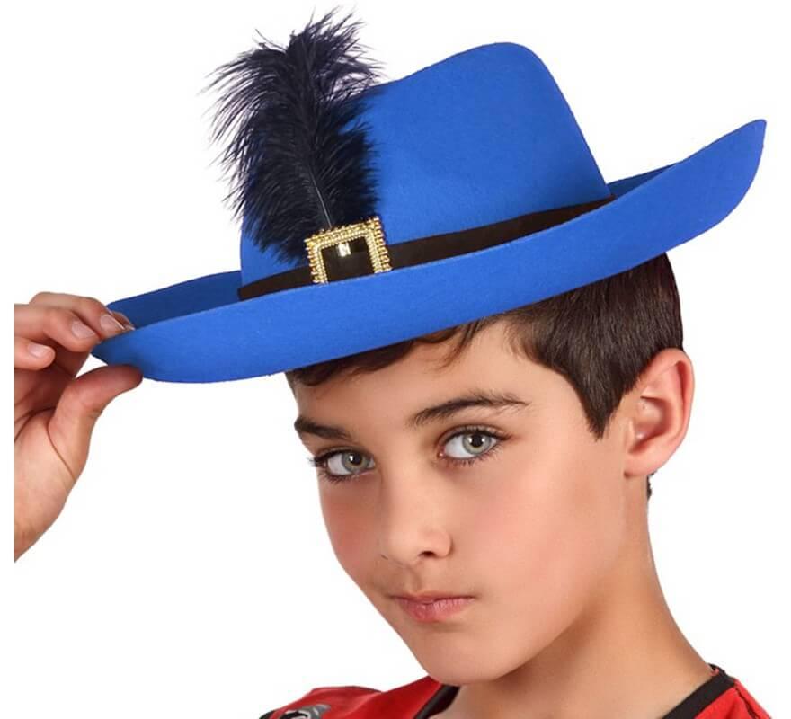 d74652629ab47 Sombrero de Mosquetero Azul infantil