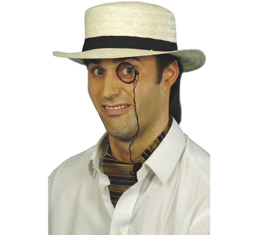 Sombrero gondolero o canotier de paja 97d5b2b89f2