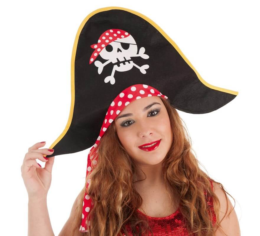 Sombrero de Pirata con Lunares para mujer bf333d22c5e0