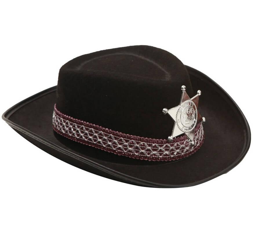 dd79120cc9f10 Sombrero de Vaquero para niños negro