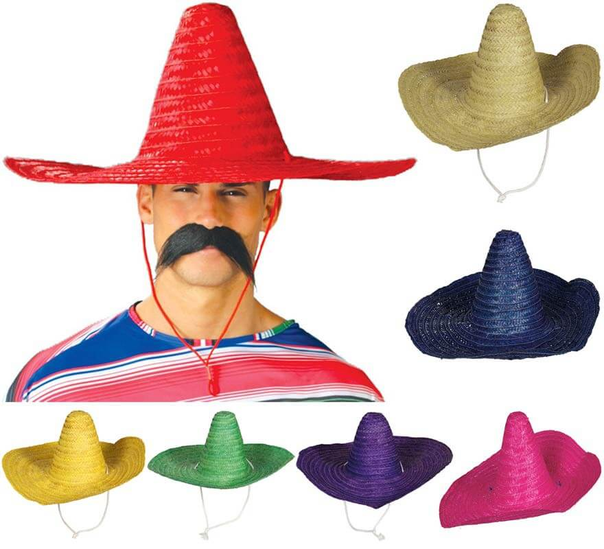 Sombrero Mexicano en varios colores 50 cm 4938ae200e7