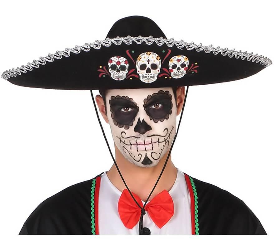 Sombrero Mexicano Del Día De Los Difuntos 58cm