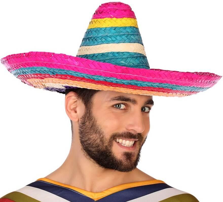 Sombrero Mexicano Multicolor de 50 cm de diámetro 886aa7436c5