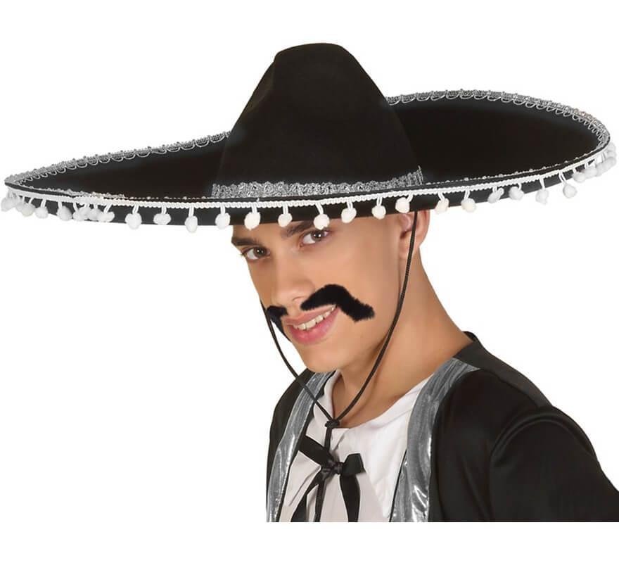 79d7ffd769692 Sombrero Mexicano Negro y Blanco