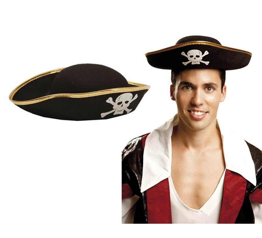 Sombrero Pirata de fieltro para adultos