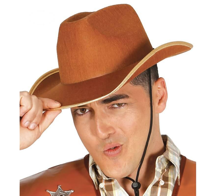 546bde0b414ad Sombrero Vaquero de fieltro marrón