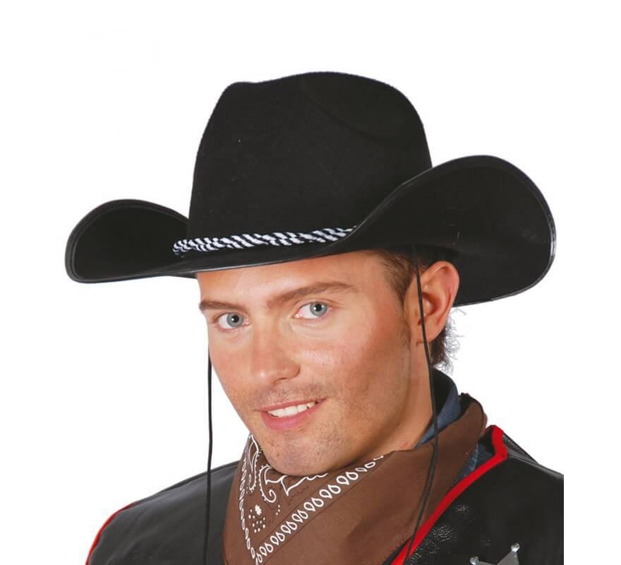 Sombrero Vaquero de fieltro negro 520492216a5