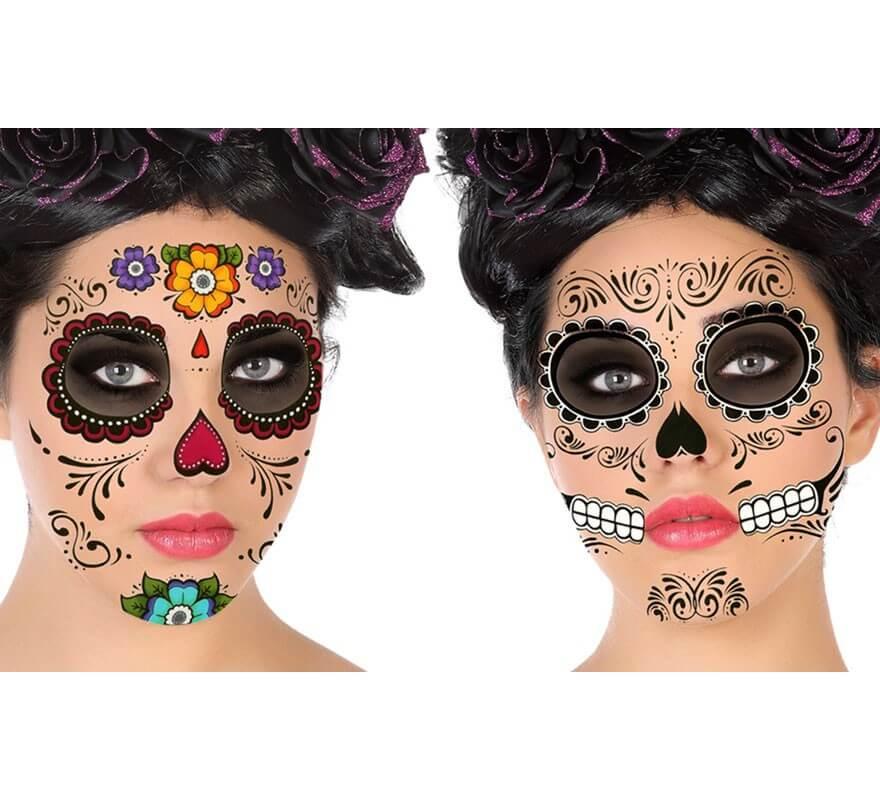 Tatuajes Del Día De Los Muertos En 2 Modelos Surtidos