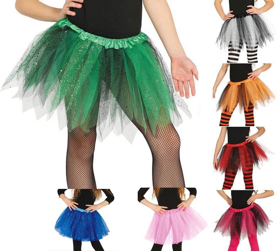 1ab67dc26 Tutú con Brillantes en varios colores para niñas