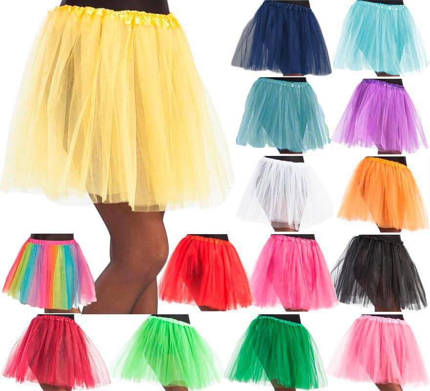 35ae74761 Tutú de 40 cm de largo en varios colores para mujer