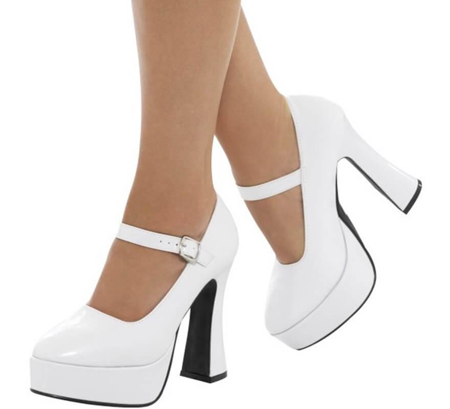 Mujer Cm De Zapatos Con 12 7 Años Tacón Para 70 Blancos XuiOPkZ