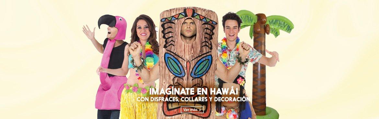 collares y disfraces hawaianos
